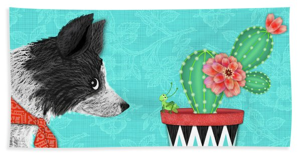 C Is For Collie Beach Towel