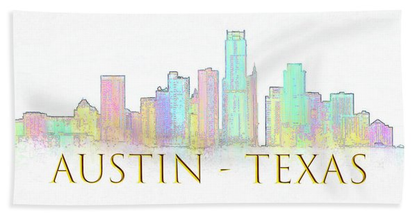 Austin Skyline Beach Towel