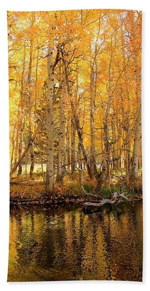 Beach Towel featuring the photograph Autumn Gold Rush by Sean Sarsfield