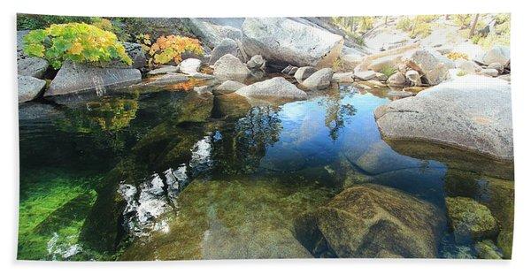 Beach Towel featuring the photograph Autumn Liquid Dreamscape by Sean Sarsfield
