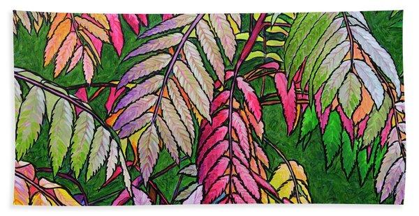 Autumn Sumac Beach Towel