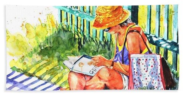 Avid Reader #2 Beach Towel