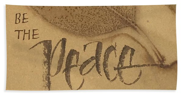 Be The Peace Beach Sheet