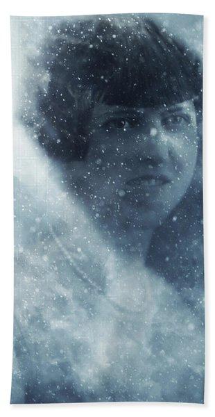 Beauty In The Snow Beach Towel