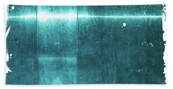Blue Aluminum Surface With Worn Borders Beach Towel