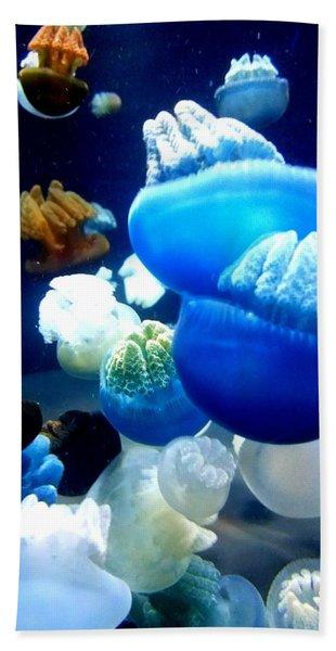 Blue Blubber  Beach Towel