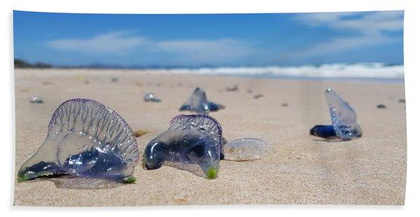 Blue Bottles Beach Towel
