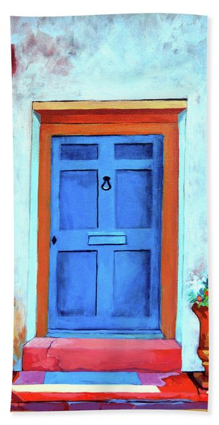 Blue Door St. Augustine Beach Towel
