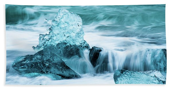 Blue Ice  Beach Towel