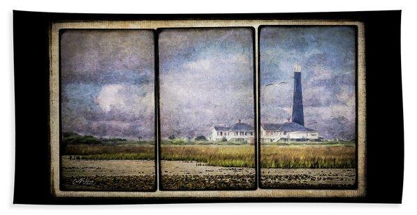 Bolivar Lighthouse Triptych 1 Beach Towel