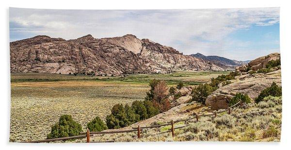 Breathtaking Wyoming Scenery Beach Sheet