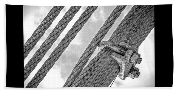 Bridge Cables Beach Sheet
