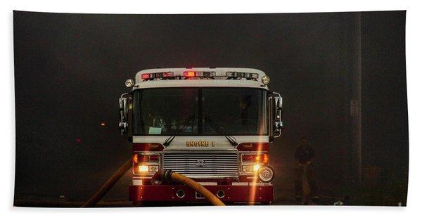 Buffalo Fire Dept Engine 1 Beach Towel
