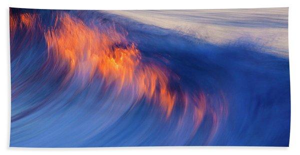 Burning Wave Beach Towel
