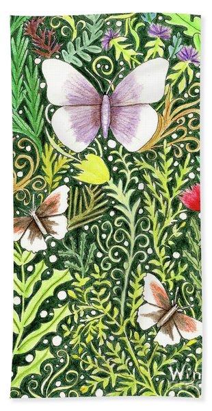 Butterflies In The Millefleurs Beach Towel