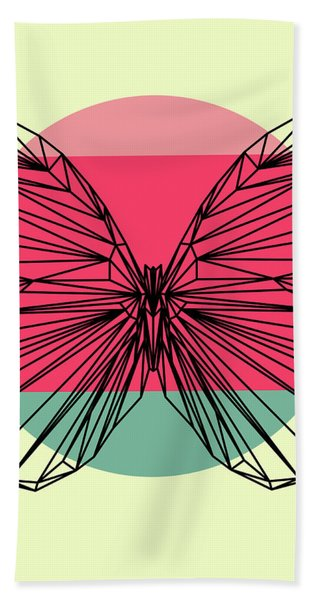 Butterfly And Sunset Beach Towel