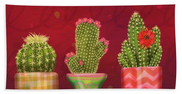 Cactus Friends I Beach Sheet