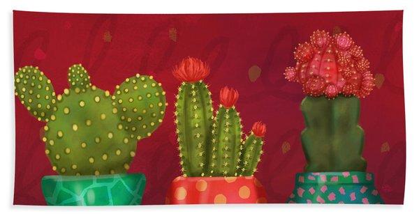 Cactus Friends II Beach Towel