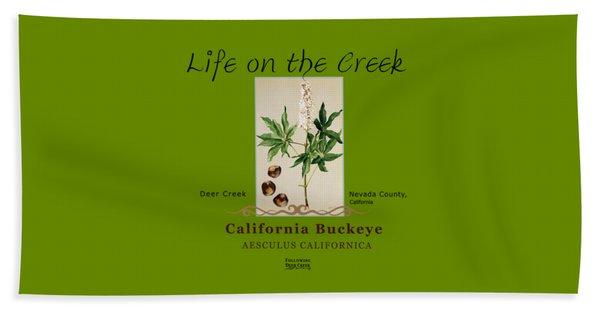 California Buckeye Beach Towel
