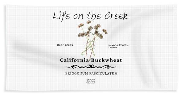 California Buckwheat Beach Towel