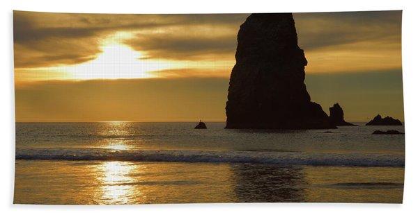 Cannon Beach November Evening Beach Towel