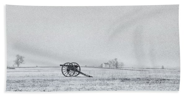 Cannon Out In The Field Beach Towel