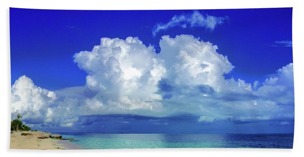 Caribbean Clouds Beach Towel