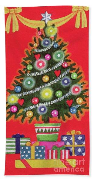 Christmas Tree  Detail Beach Towel