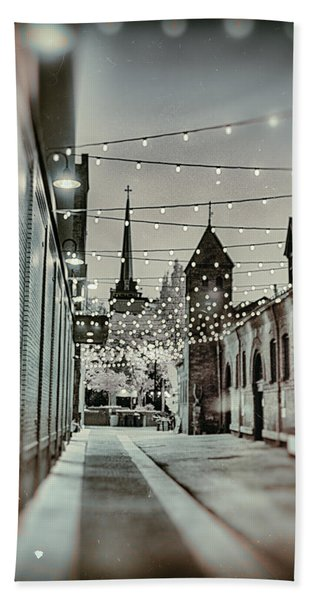 City Lights Beach Towel