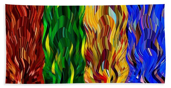 Colored Fire Beach Towel