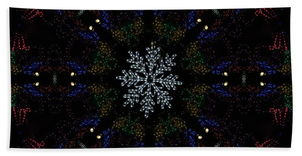 Continuous Christmas Lights Beach Towel