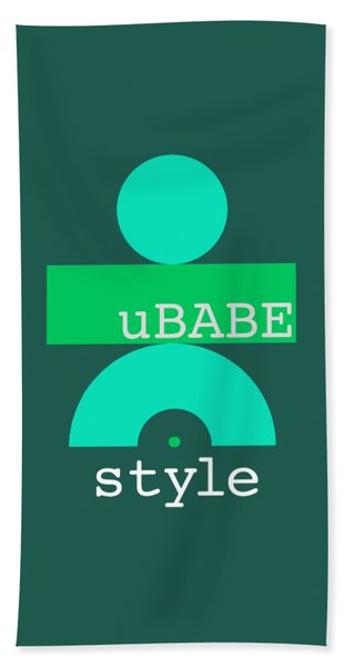 Cool Green Style Beach Towel