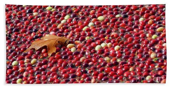 Cranberry Season Beach Towel