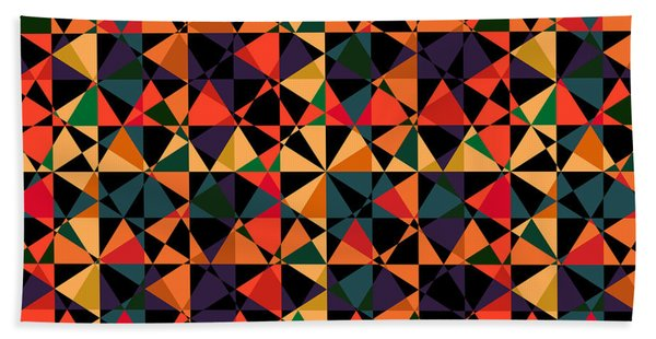 Crazy Psychedelic Art In Chaotic Visual Shapes - Efg214 Beach Sheet