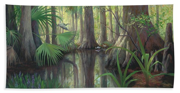 Cypress Swamp Beach Towel