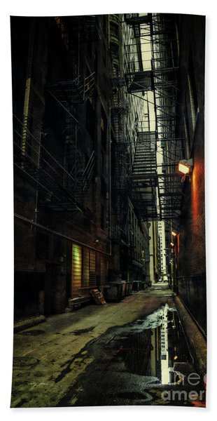 Dark Chicago Alley Beach Towel