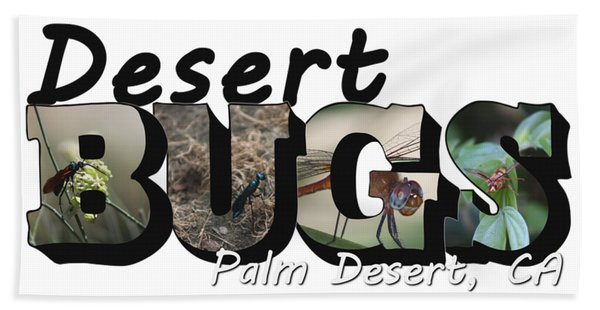 Desert Bugs Big Letter Beach Towel