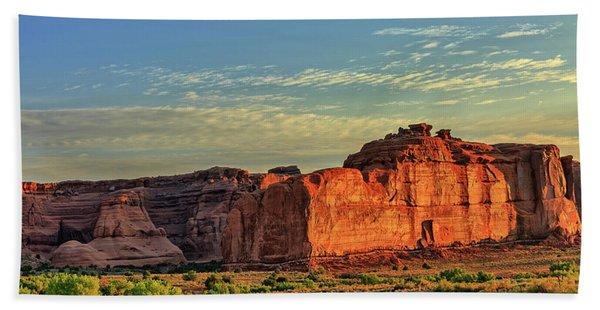 Desert Sunrise In Color Beach Towel