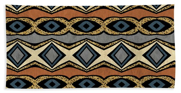 Diamond And Eye Motif With Leopard Accent Beach Sheet
