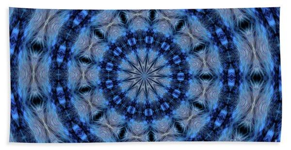 Blue Jay Mandala Beach Towel