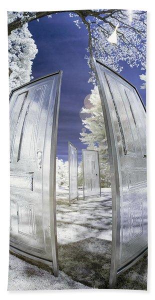 Dimensional Doors Beach Towel