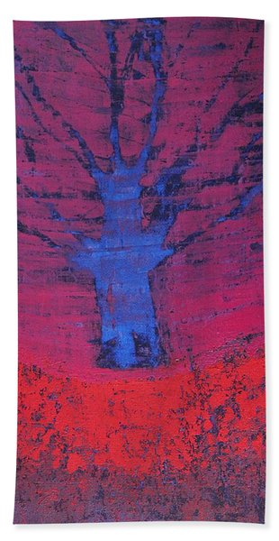 Disappearing Tree Original Painting Beach Sheet