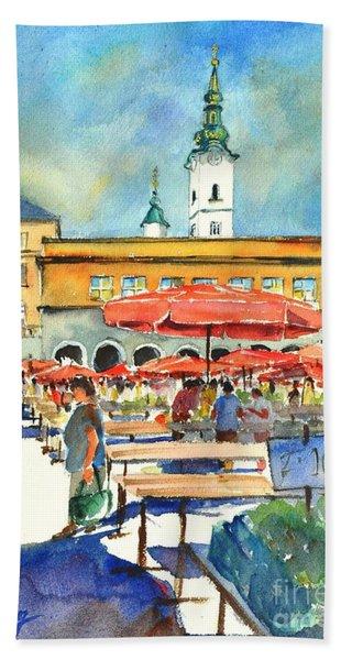 Dolce Market In Zagreb #1 Beach Towel