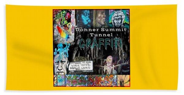 Donner Summit Graffiti Beach Towel