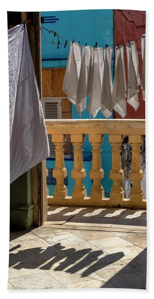 Beach Towel featuring the photograph Drying Napkins by Tom Singleton