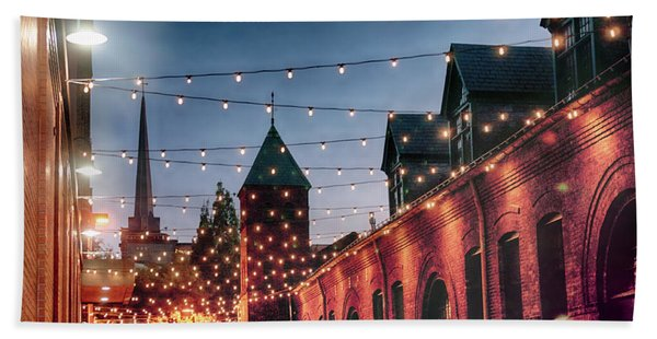 Dusk Lights Beach Towel