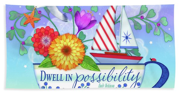 Dwell In Possibility Beach Sheet