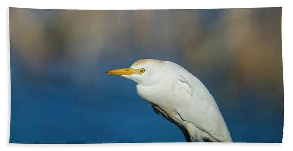 Egret On A Stick Beach Sheet