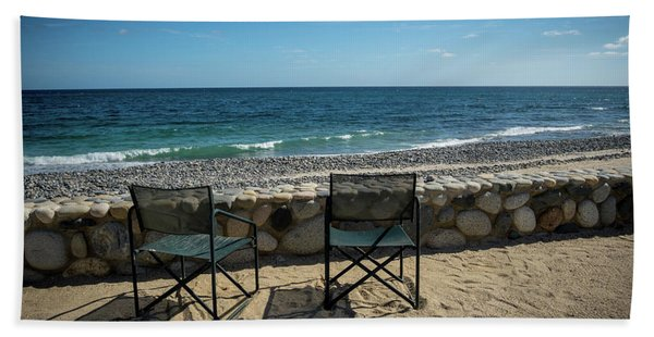 Empty Chairs Beach Towel