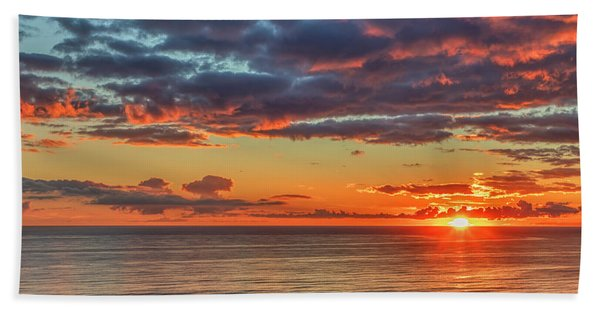 End Of Day Light Show Beach Towel
